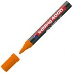 Маркер лаковый Edding 4000 оранжевый, 2-4мм, круглый наконечник, декоративный, для дерева и керамики