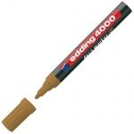 Маркер лаковый Edding 4000 коричневый, 2-4мм, круглый наконечник, декоративный, для дерева и керамик
