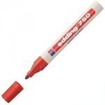 Маркер промышленный перманентный Edding 750, 2-4мм, универсальный, алюминиевый корпус, красный