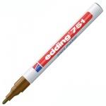 Маркер промышленный перманентный Edding 751 коричневый, 1-2мм, круглый наконечник, универсальный, ла