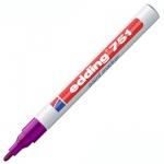 Маркер промышленный перманентный Edding 751 фиолетовый, 1-2мм, круглый наконечник, универсальный, ла
