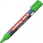 Маркер для досок Edding 363 зеленый, 1-5мм, скошенный наконечник, заправляемый