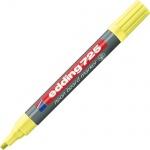 Маркер для досок Edding 725, 2-5мм, скошенный наконечник, заправляемый, неоновый желтый
