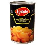 Консервированные фрукты Lorado абрикосы в легком сиропе, 425г, 425г