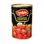 Консервированные ягоды Lorado клубника в легком сиропе, 410г
