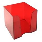 Подставка для бумажного блока Оскол-Пласт бордовая, 9х9х9см, пластик