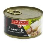 Кальмар Elmarino в масле, 185г