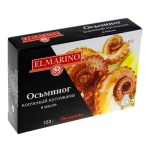 Осьминоги Elmarino копченый кусочками в масле, 103г
