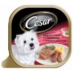Консервы для собак Cesar бефстроганов из говядины с сыром и укропом, 100г
