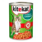 Консервы для кошек Kitekat Домашний обед с кроликом, 400г, ж/б