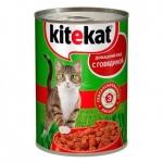 Консервы для кошек Kitekat Домашний обед с говядиной, 400г, ж/б