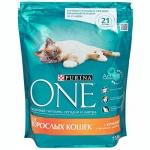Сухой корм для кошек Purina One с курицей и злаками, 750г