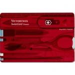 Швейцарская карта Victorinox SwissCard Ruby 0.7100.T, 10 функций, красная