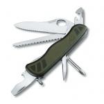 Нож для спецслужб 111мм Victorinox Military 0.8461.MWCH, 10 функций, 2 уровня, зеленый, с фиксатором