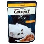 Влажный корм для кошек Gourmet Perle, 85г, курица
