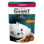 Влажный корм для кошек Gourmet Perle, 85г, говядина