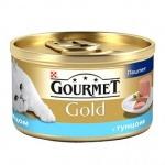 Консервы для кошек Gourmet Gold, 85г, ж/б, тунец