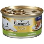 Консервы для кошек Gourmet Gold, 85г, ж/б, кролик