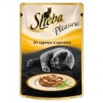 Влажный корм для кошек Sheba Pleasure из курицы и кролика, 85г