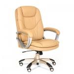 Кресло руководителя Chairman 668 иск. кожа, бежевая, крестовина пластик