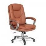 Кресло руководителя Chairman 668 иск. кожа, коричневая, крестовина пластик