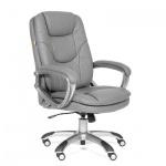 Кресло руководителя Chairman 668 иск. кожа, серая, крестовина пластик