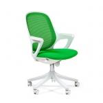 Кресло офисное Chairman 820 ткань, крестовина пластик, белая, зелёное