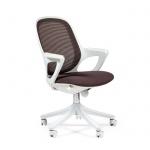 Кресло офисное Chairman 820 ткань, крестовина пластик, белая, серое