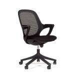Кресло офисное Chairman 820 ткань, крестовина пластик, черная, черный