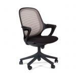 Кресло офисное Chairman 820 ткань, крестовина пластик, черная, серое