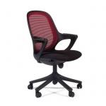 Кресло офисное Chairman 820 ткань, крестовина пластик, черная, красное