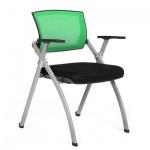 Кресло посетителя Chairman NEXX ткань, зеленая, на ножках