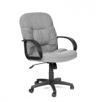 Кресло руководителя Chairman 416, крестовина пластик, низкая спинка, серый