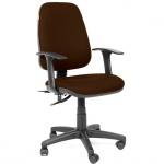 Кресло офисное Chairman 661 ткань, коричневая, крестовина пластик