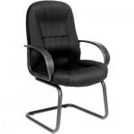 Кресло посетителя Chairman 685 V ткань, черная, TW, на полозьях, черный