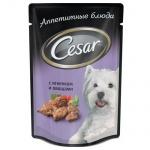 Влажный корм для собак Cesar, 100г, ягненок/овощи