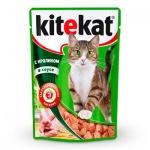 Влажный корм для кошек Kitekat с кроликом в соусе, 100г