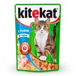 Влажный корм для кошек Kitekat с рыбой в соусе, 100г