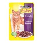 Влажный корм для кошек Friskies в подливе с говядиной и ягненком, 100г