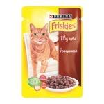 Влажный корм для кошек Friskies, 100г, говядина