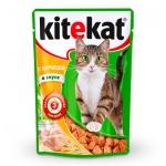 Влажный корм для кошек Kitekat с курицей в соусе, 100г