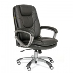 Кресло руководителя Chairman 668 иск. кожа, черная, крестовина пластик