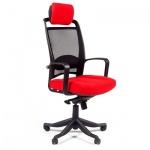 Кресло руководителя Chairman 283 ткань, красная, крестовина пластик