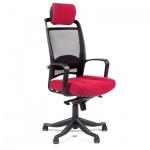 Кресло руководителя Chairman 283 ткань, бордовая, крестовина пластик