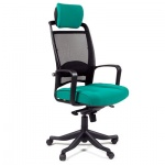 Кресло руководителя Chairman 283 ткань, зеленая, крестовина пластик