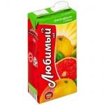 Сок Любимый, 1.93л, грейпфрут/лимон