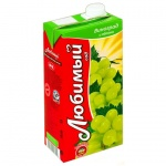 Сок Любимый Сад, 0.95л х 4шт, яблоко/виноград