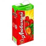 Сок Любимый яблоко-клубника, 0.95л х 4шт