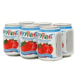 Сокосодержащий напиток Fruiting, без газа, 0.238л х 6шт, ж/б, клубника