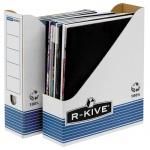Накопитель вертикальный для бумаг Fellowes R-Kive Prima А4, 80мм, бело-синий, FS-0026301